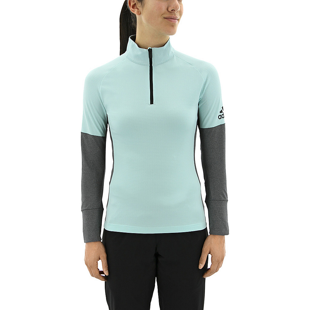 adidas outdoor Womens Xperior Active Top S - Energy Aqua/Dark Grey Heather - adidas outdoor Womens Apparel - Apparel & Footwear, Women's Apparel