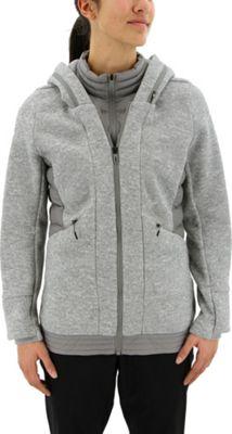 adidas outdoor Womens Layered Padded Jacket XL - Medium Grey Heather/Ch Solid Grey - adidas outdoor Women's Apparel