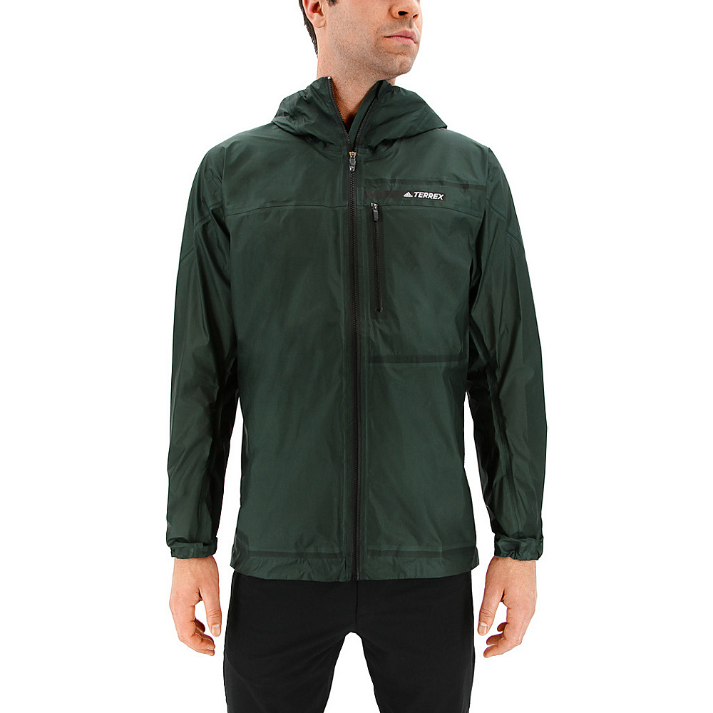 adidas outdoor Mens Terrex Agravic 3L Jacket S - Green Night - adidas outdoor Mens Apparel - Apparel & Footwear, Men's Apparel
