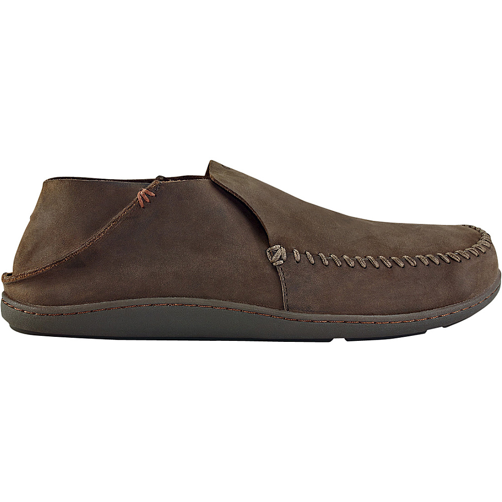 OluKai Mens Akahai Slip-On 14 - Dark Wood/Dark Wood - OluKai Mens Footwear - Apparel & Footwear, Men's Footwear