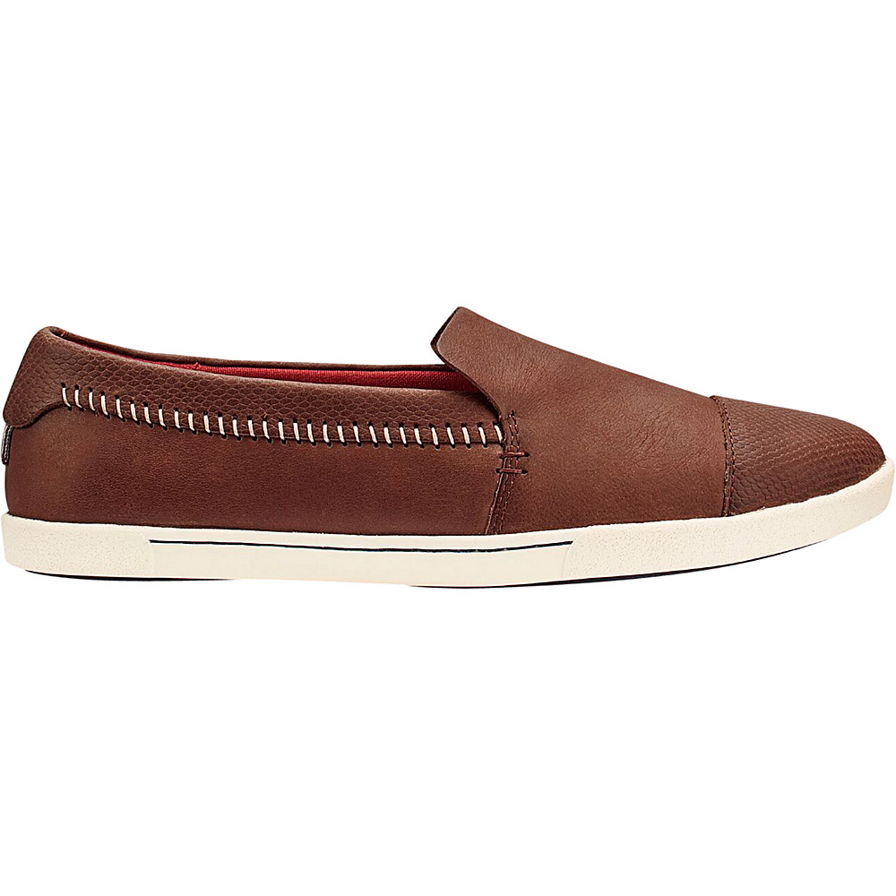 OluKai Womens Alohi Slip-On 5 - Friar Brown/Friar Brown - OluKai Womens Footwear - Apparel & Footwear, Women's Footwear