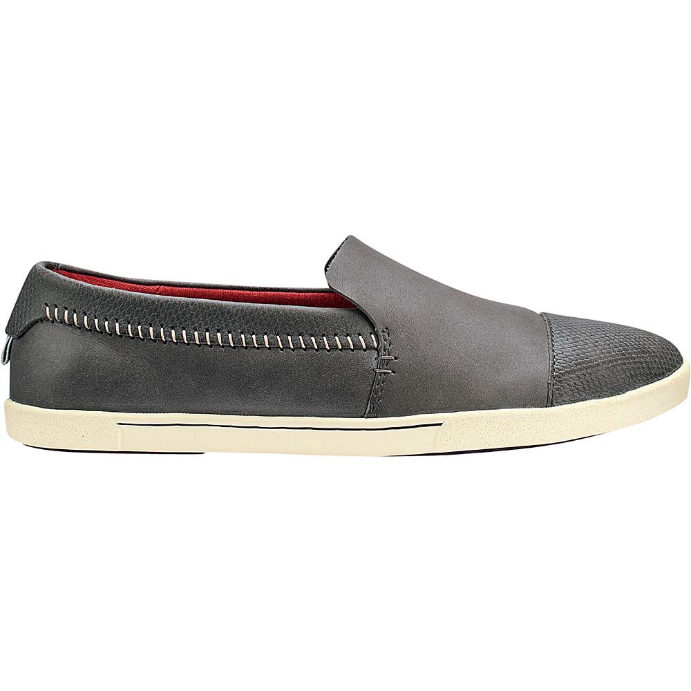 OluKai Womens Alohi Slip-On 6 - Charcoal/Charcoal - OluKai Womens Footwear - Apparel & Footwear, Women's Footwear