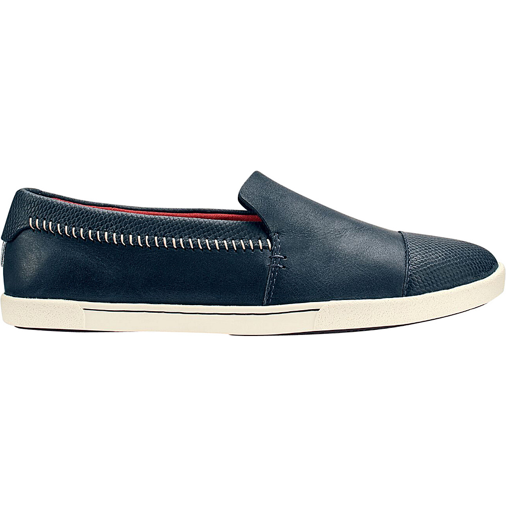 OluKai Womens Alohi Slip-On 6 - Trench Blue/Trench Blue - OluKai Womens Footwear - Apparel & Footwear, Women's Footwear