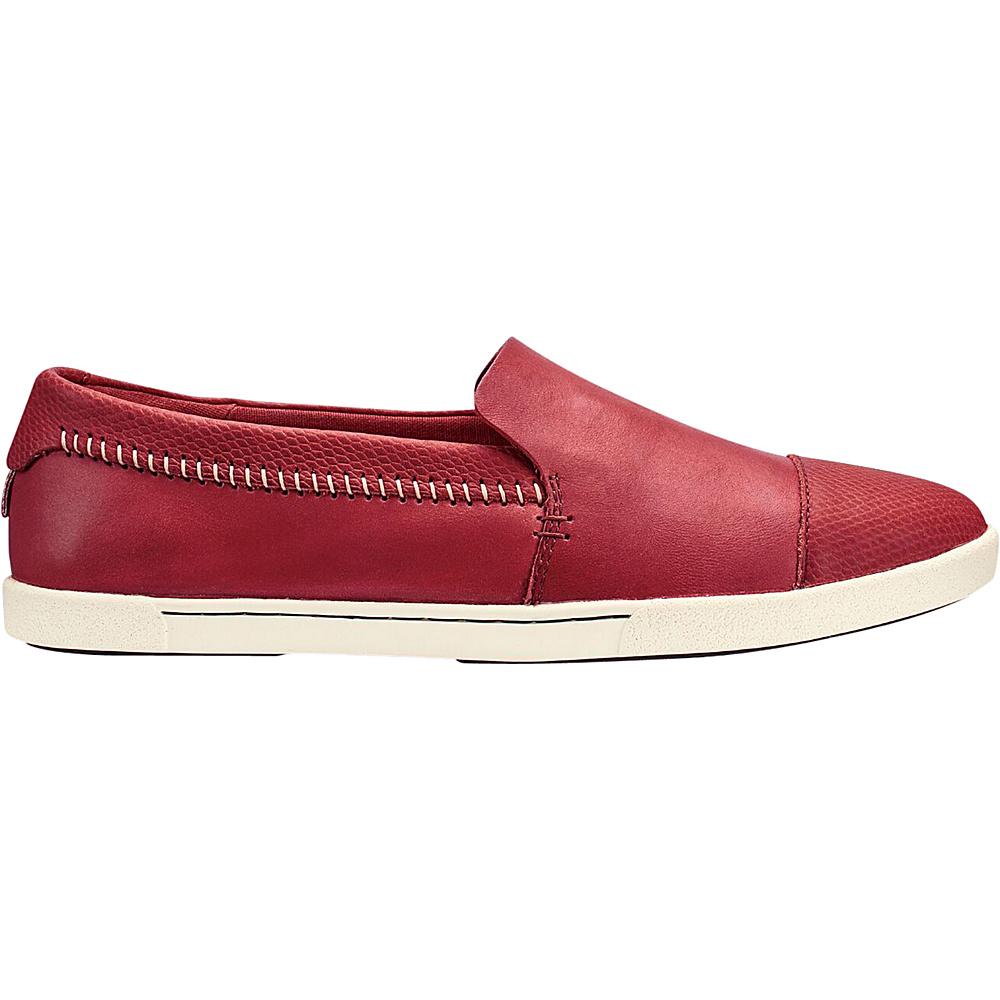 OluKai Womens Alohi Slip-On 7.5 - Red Mud/Red Mud - OluKai Womens Footwear - Apparel & Footwear, Women's Footwear