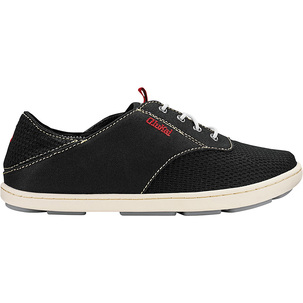 OluKai Boys Nohea Moku Slip-On 1 (US Kids) - Black/Black - OluKai Mens Footwear - Apparel & Footwear, Men's Footwear