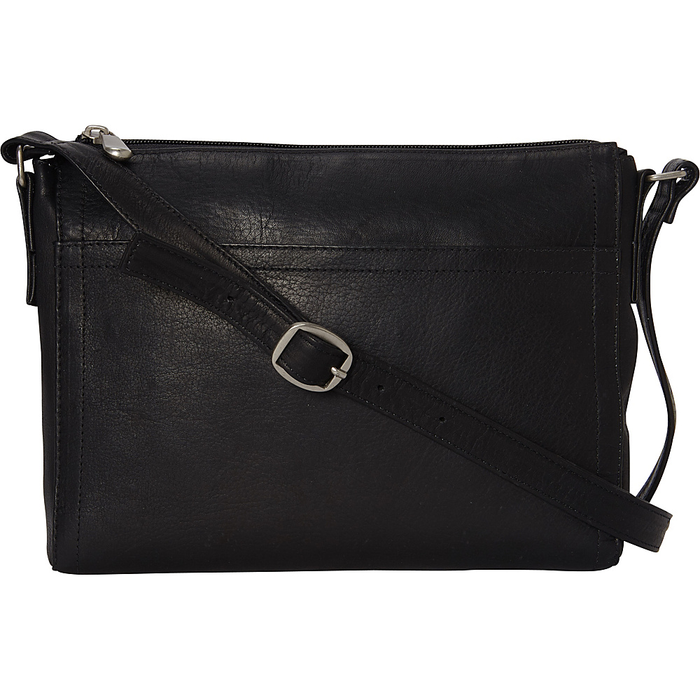 Le Donne Leather Finte Crossbody Black - Le Donne Leather Leather Handbags - Handbags, Leather Handbags
