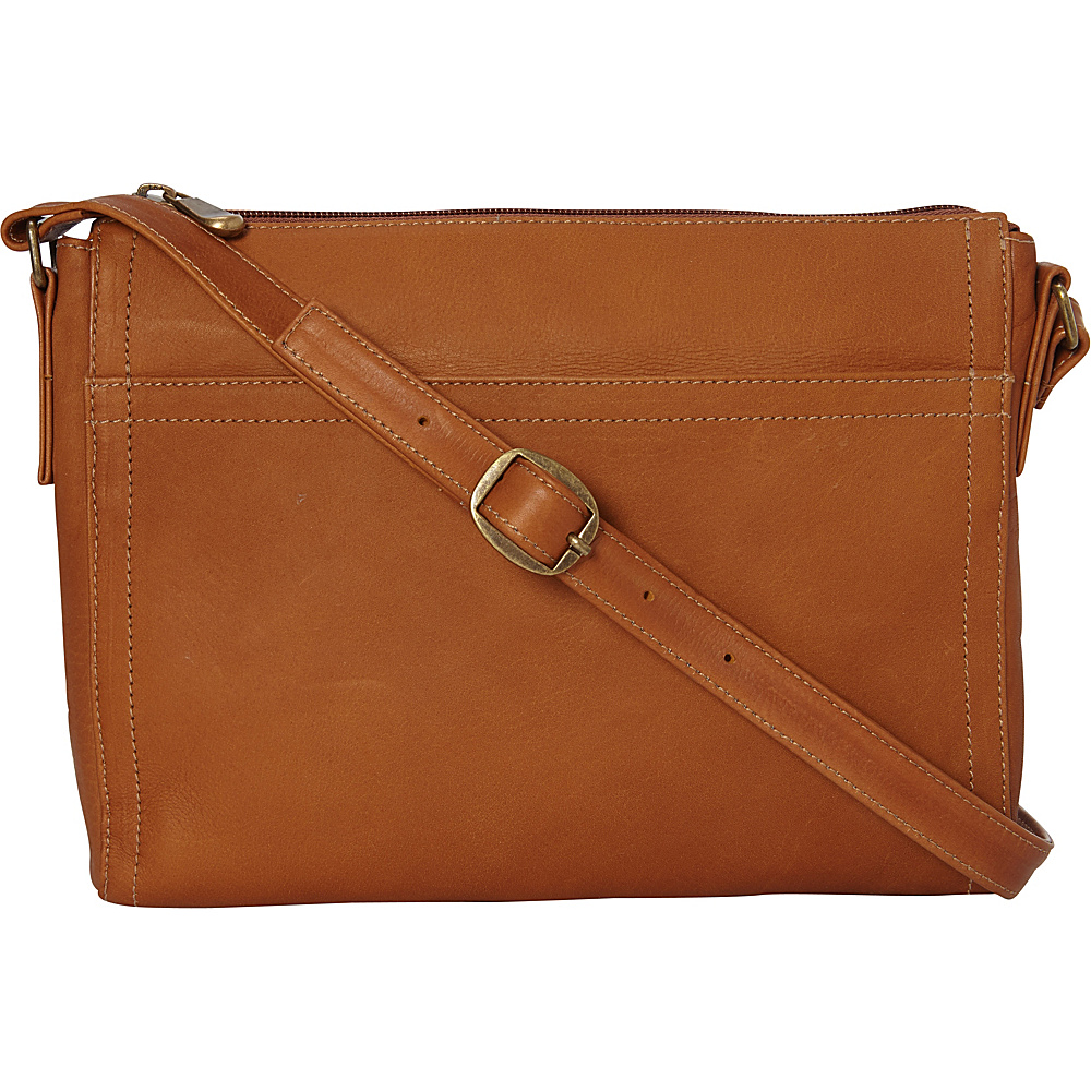 Le Donne Leather Finte Crossbody Tan - Le Donne Leather Leather Handbags - Handbags, Leather Handbags