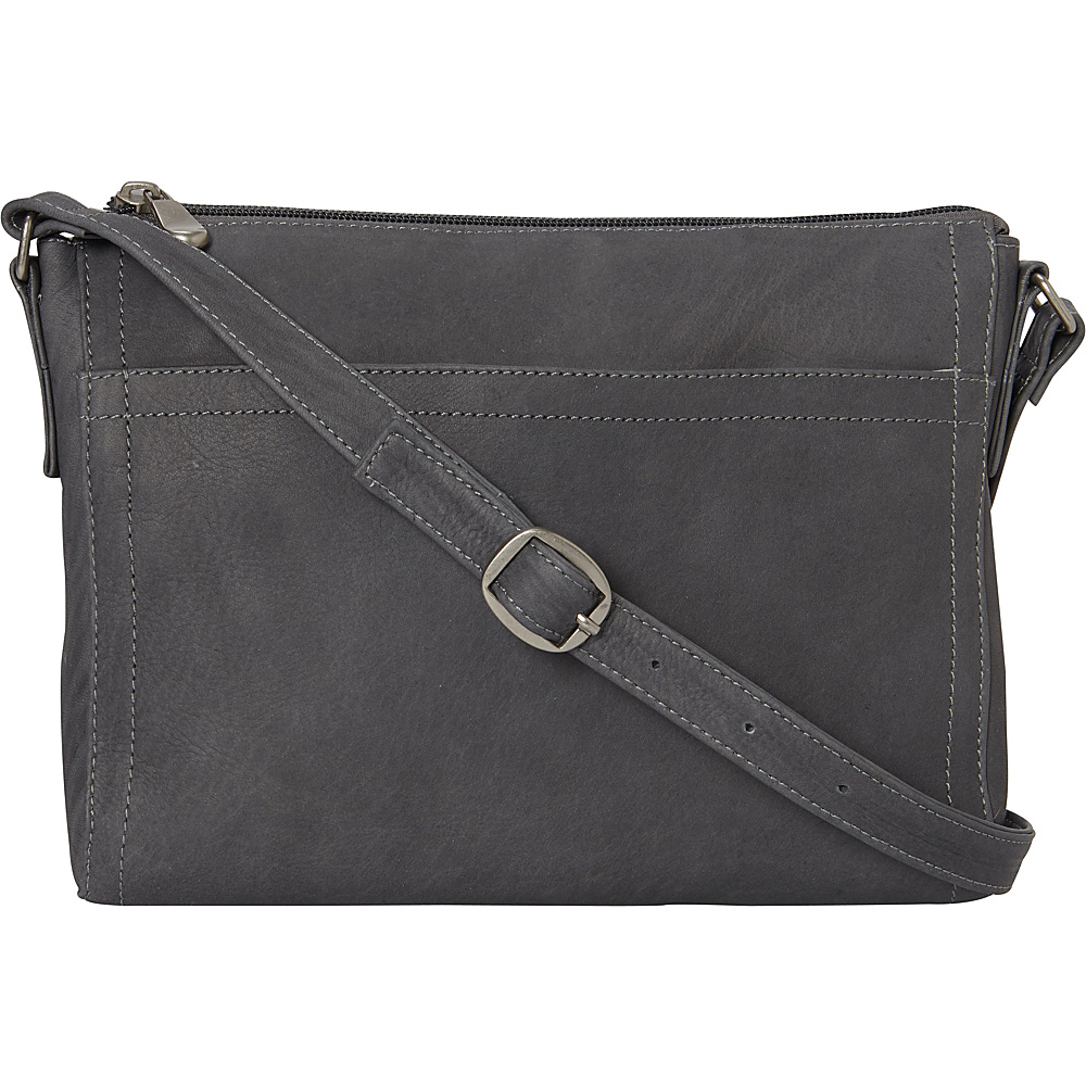 Le Donne Leather Finte Crossbody Gray - Le Donne Leather Leather Handbags - Handbags, Leather Handbags