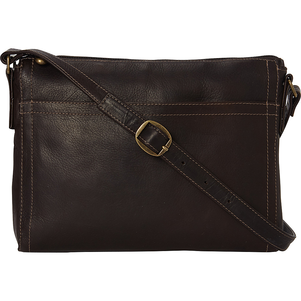 Le Donne Leather Finte Crossbody Cafe - Le Donne Leather Leather Handbags - Handbags, Leather Handbags