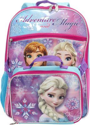 Disney Frozen Backpack with Lunch Bag Blue - Disney Kids' Backpacks