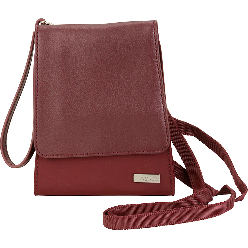 Hadaki Crossbody Wallet Wine - Hadaki Leather Handbags - Handbags, Leather Handbags