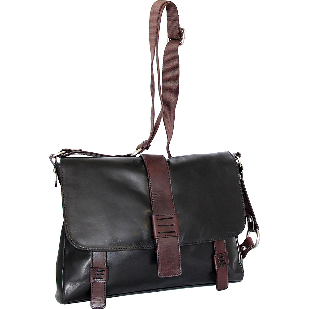 Nino Bossi Mara Medium Messenger Crossbody Black - Nino Bossi Leather Handbags - Handbags, Leather Handbags