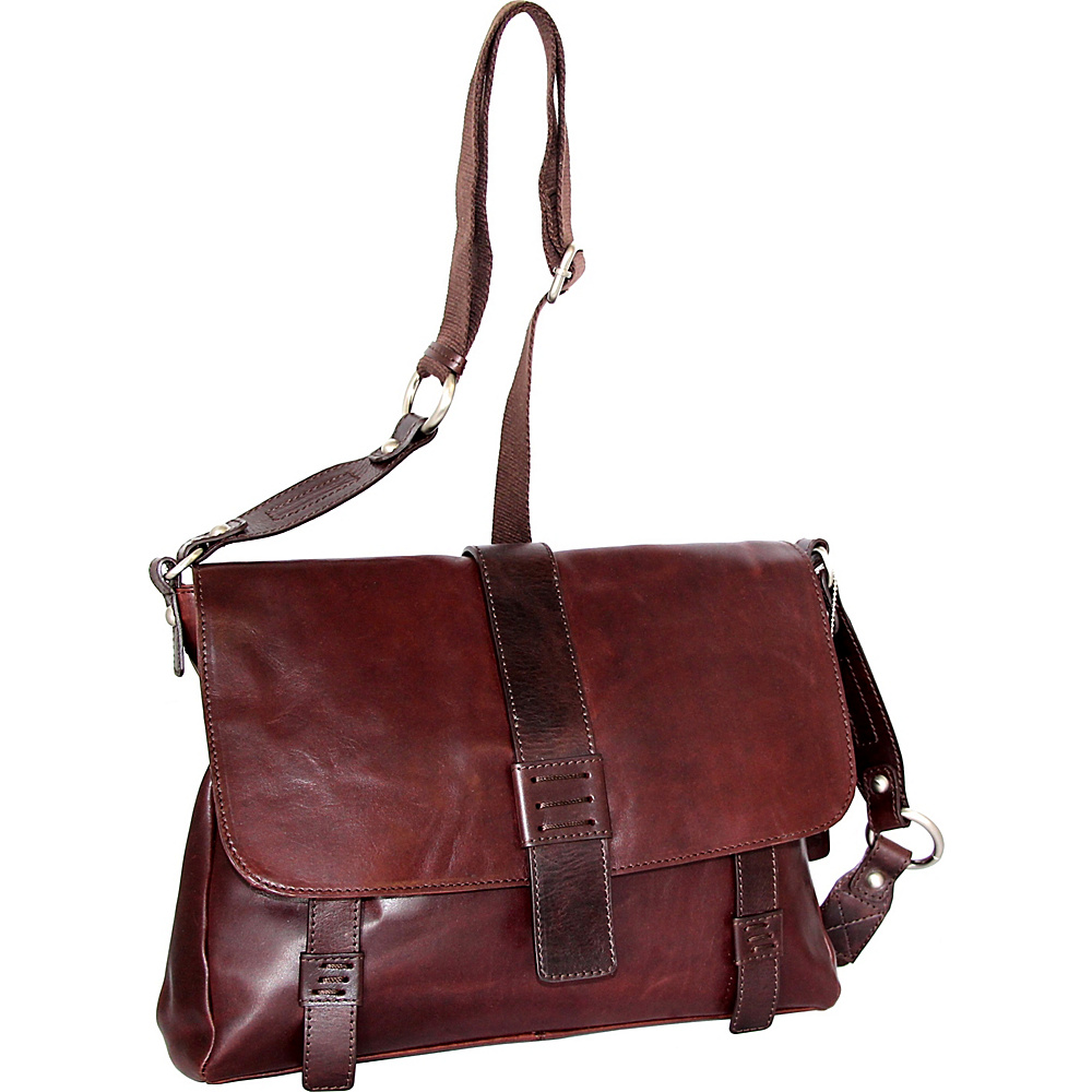 Nino Bossi Mara Medium Messenger Crossbody Chestnut - Nino Bossi Leather Handbags - Handbags, Leather Handbags