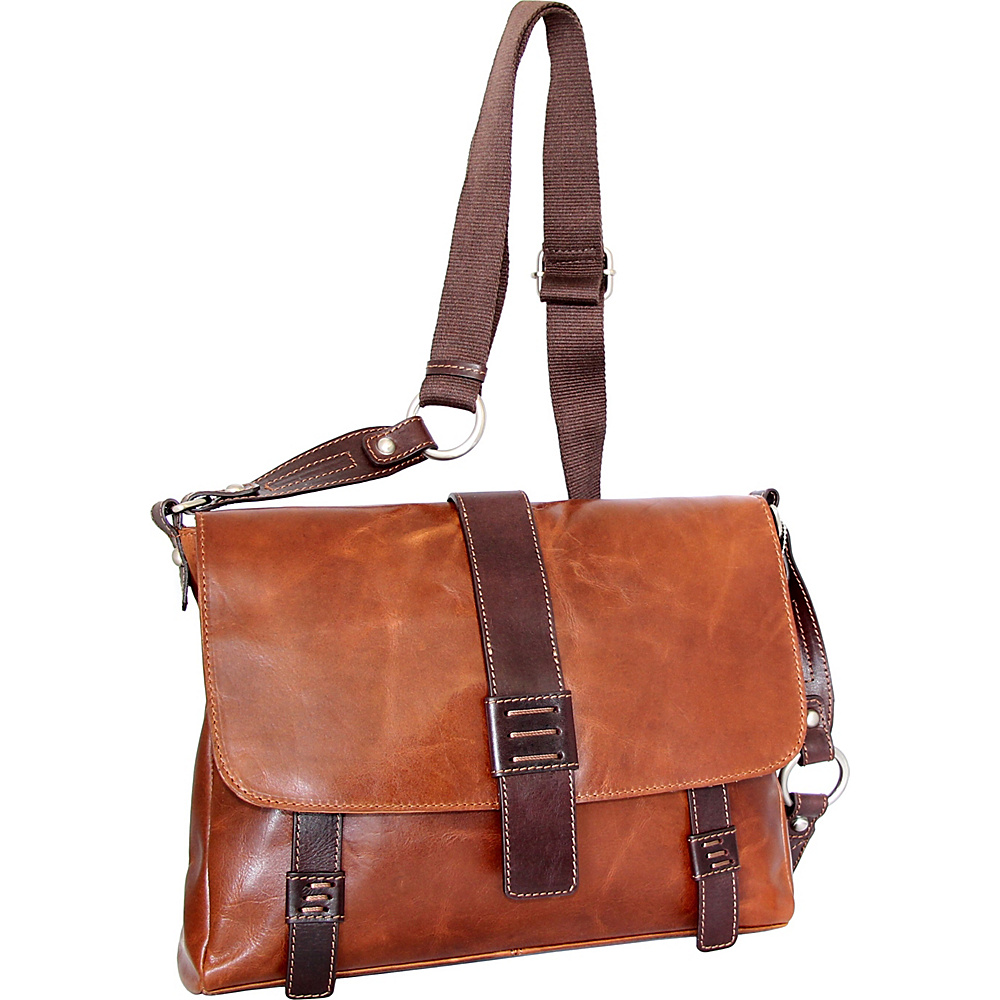Nino Bossi Mara Medium Messenger Crossbody Cognac - Nino Bossi Leather Handbags - Handbags, Leather Handbags