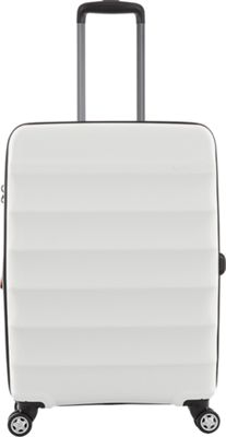 Antler Juno DLX 27 inch Expandable Hardside Checked Spinner Luggage White - Antler Large Rolling Luggage
