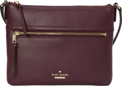 kate spade new york Jackson Street Gabriele Crossbody Plum - kate spade new york Designer Handbags