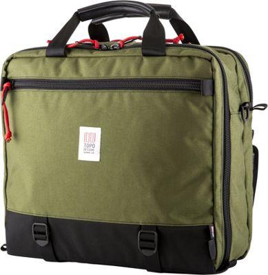 Topo Designs 3-Day Briefcase Olive/Ballistic Black - Topo Designs Travel Backpacks
