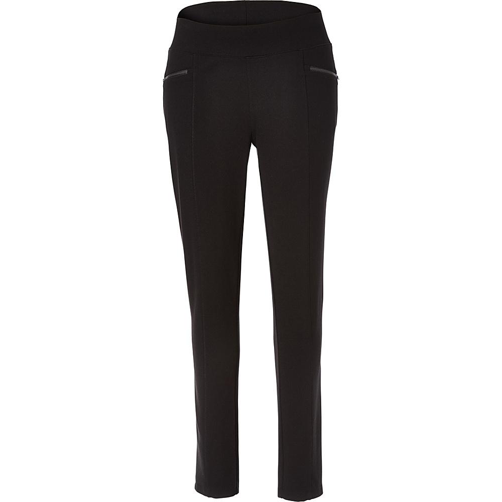 Royal Robbins Womens Lucerne Ponte Slim Leg Pant XL - 30in - Jet Black - Royal Robbins Womens Apparel - Apparel & Footwear, Women's Apparel