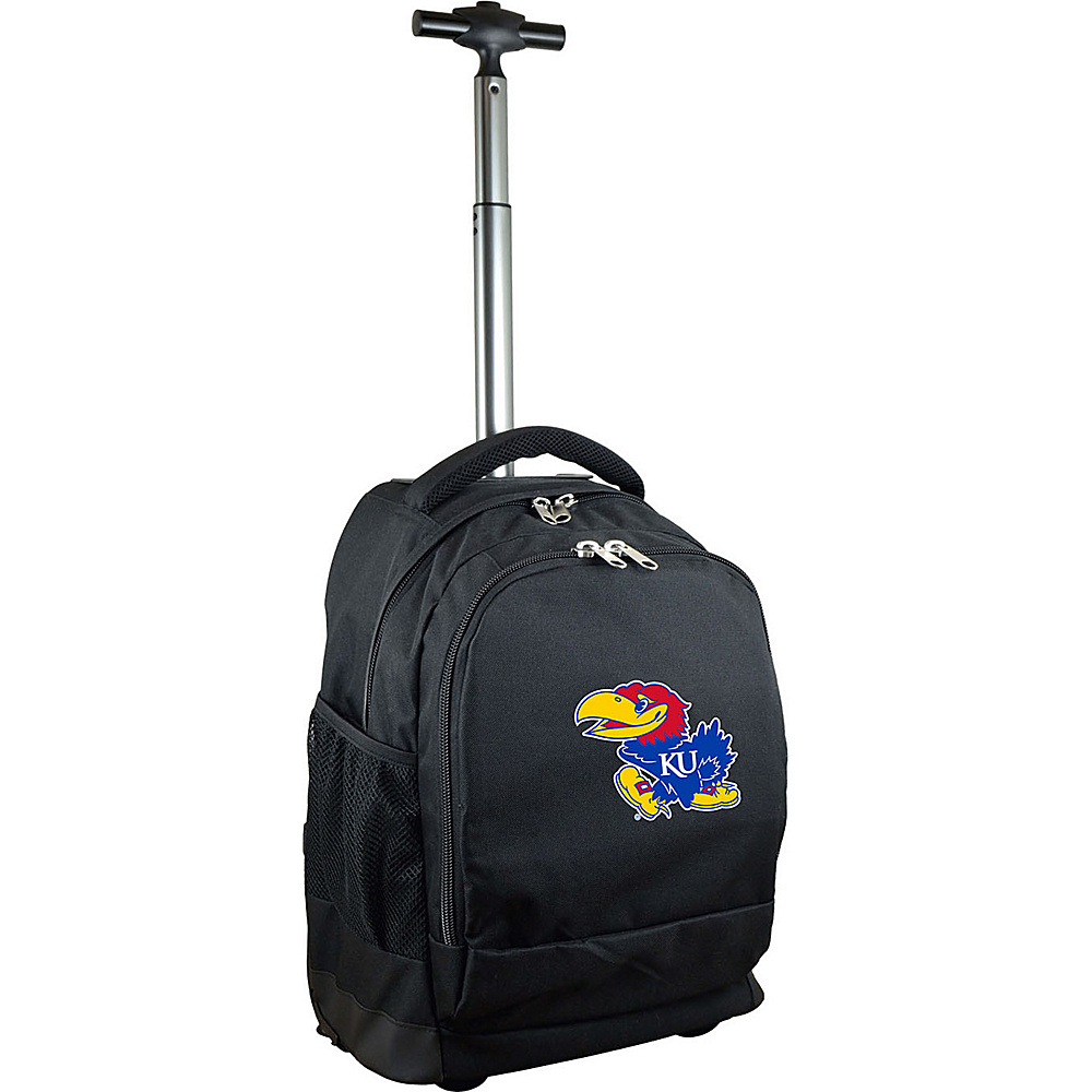 MOJO Denco College NCAA Premium Laptop Rolling Backpack Kansas - MOJO Denco Rolling Backpacks - Backpacks, Rolling Backpacks