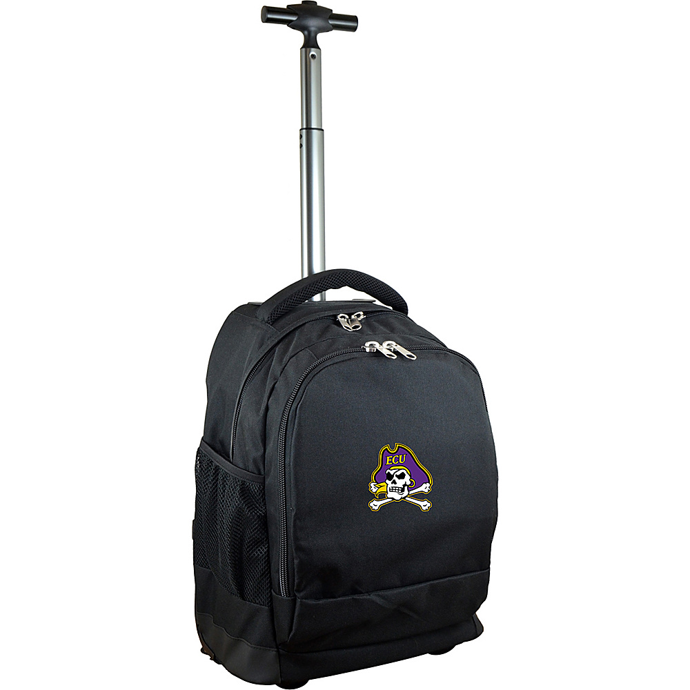 MOJO Denco College NCAA Premium Laptop Rolling Backpack East Carolina - MOJO Denco Rolling Backpacks - Backpacks, Rolling Backpacks