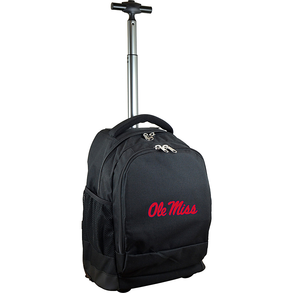 MOJO Denco College NCAA Premium Laptop Rolling Backpack Mississippi - MOJO Denco Rolling Backpacks - Backpacks, Rolling Backpacks
