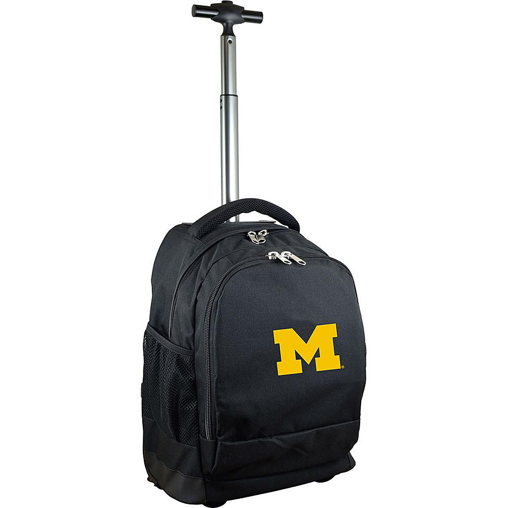 MOJO Denco College NCAA Premium Laptop Rolling Backpack Michigan - MOJO Denco Rolling Backpacks - Backpacks, Rolling Backpacks