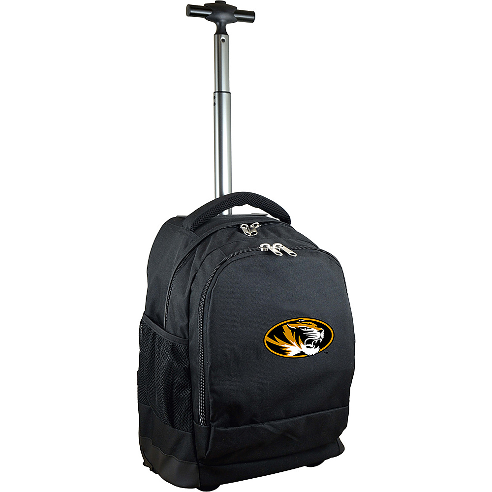 MOJO Denco College NCAA Premium Laptop Rolling Backpack Missouri - MOJO Denco Rolling Backpacks - Backpacks, Rolling Backpacks