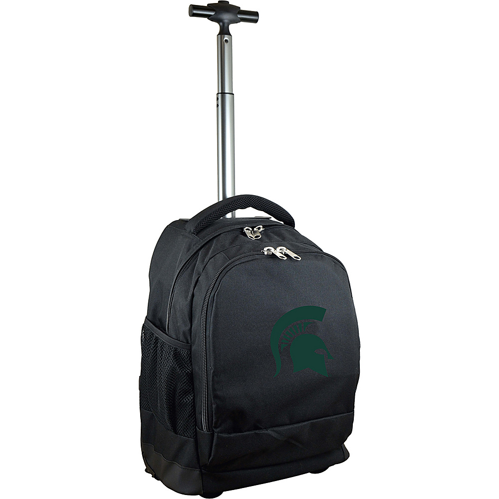 MOJO Denco College NCAA Premium Laptop Rolling Backpack Michigan State - MOJO Denco Rolling Backpacks - Backpacks, Rolling Backpacks