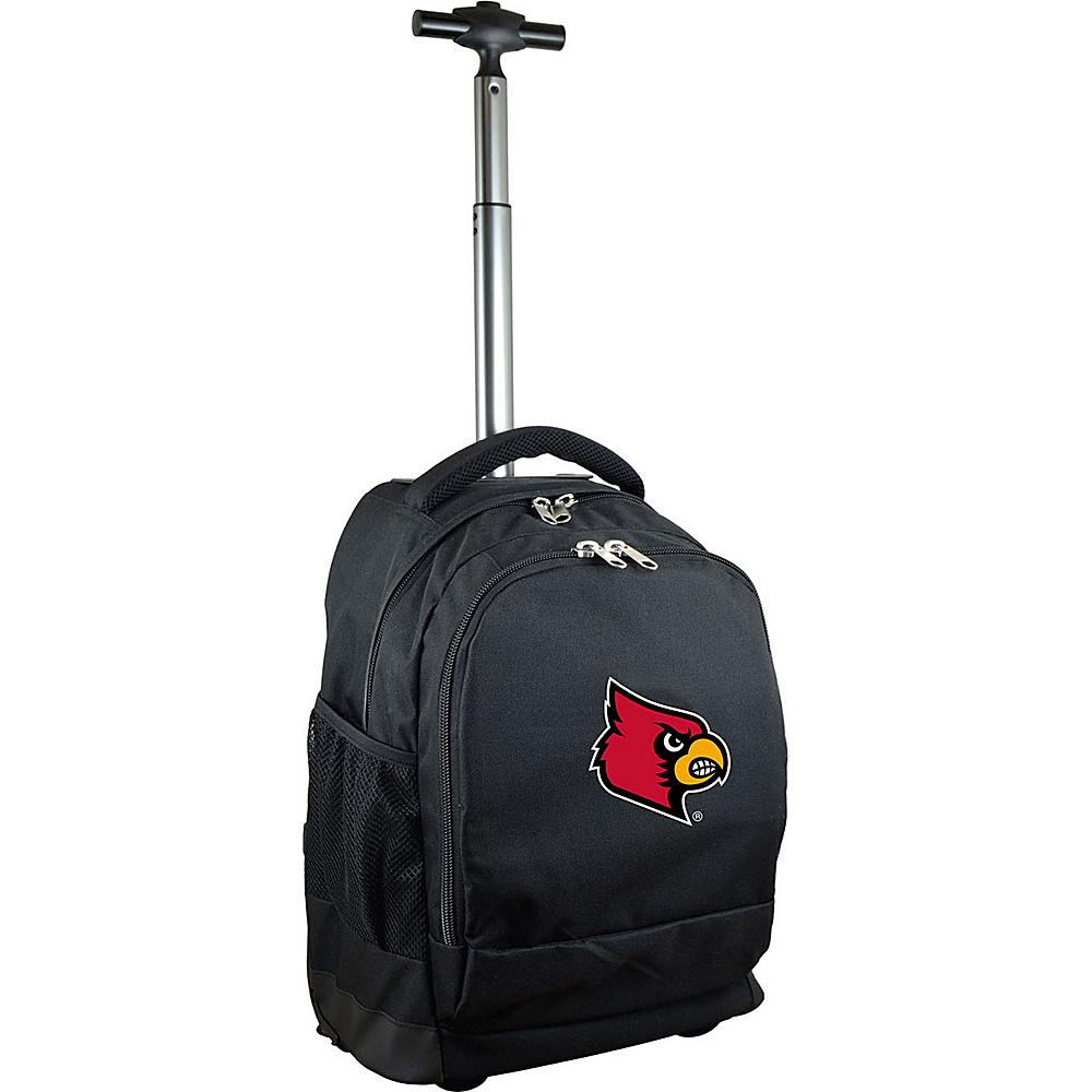 MOJO Denco College NCAA Premium Laptop Rolling Backpack Louisville - MOJO Denco Rolling Backpacks - Backpacks, Rolling Backpacks