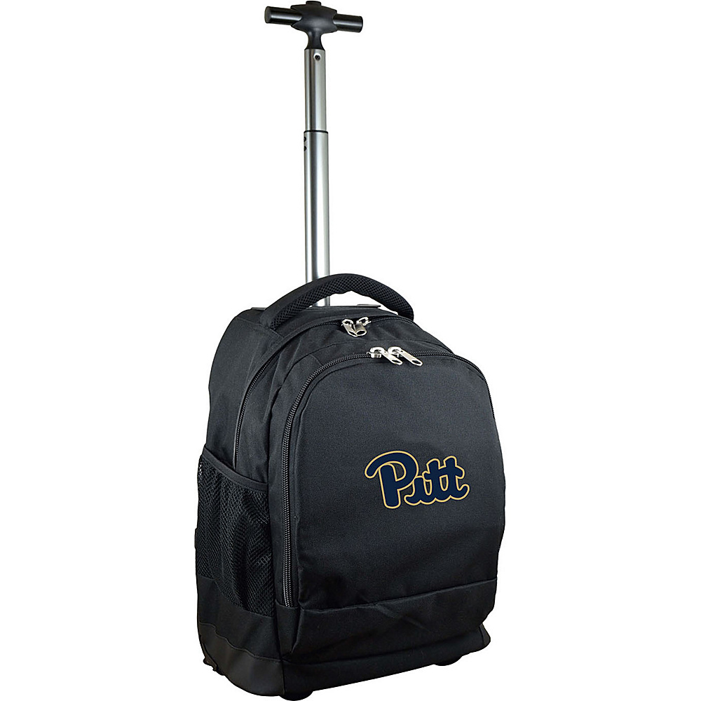MOJO Denco College NCAA Premium Laptop Rolling Backpack Pittsburgh - MOJO Denco Rolling Backpacks - Backpacks, Rolling Backpacks