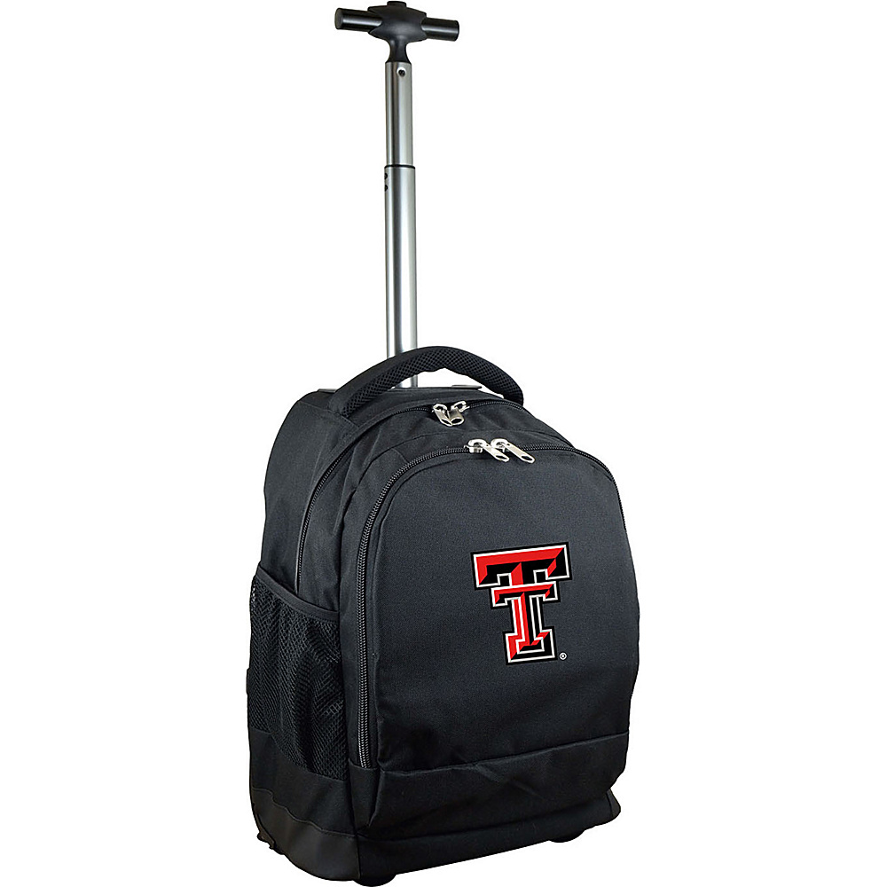 MOJO Denco College NCAA Premium Laptop Rolling Backpack Texas Tech - MOJO Denco Rolling Backpacks - Backpacks, Rolling Backpacks