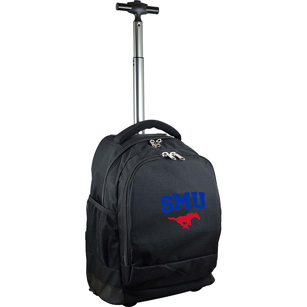 MOJO Denco College NCAA Premium Laptop Rolling Backpack Southern Methodist - MOJO Denco Rolling Backpacks - Backpacks, Rolling Backpacks