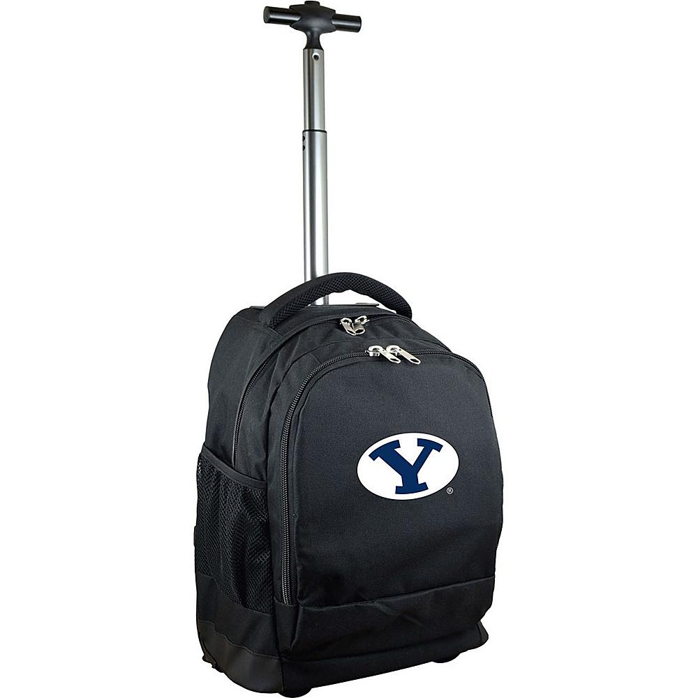 MOJO Denco College NCAA Premium Laptop Rolling Backpack Brigham Young (BYU) - MOJO Denco Rolling Backpacks - Backpacks, Rolling Backpacks