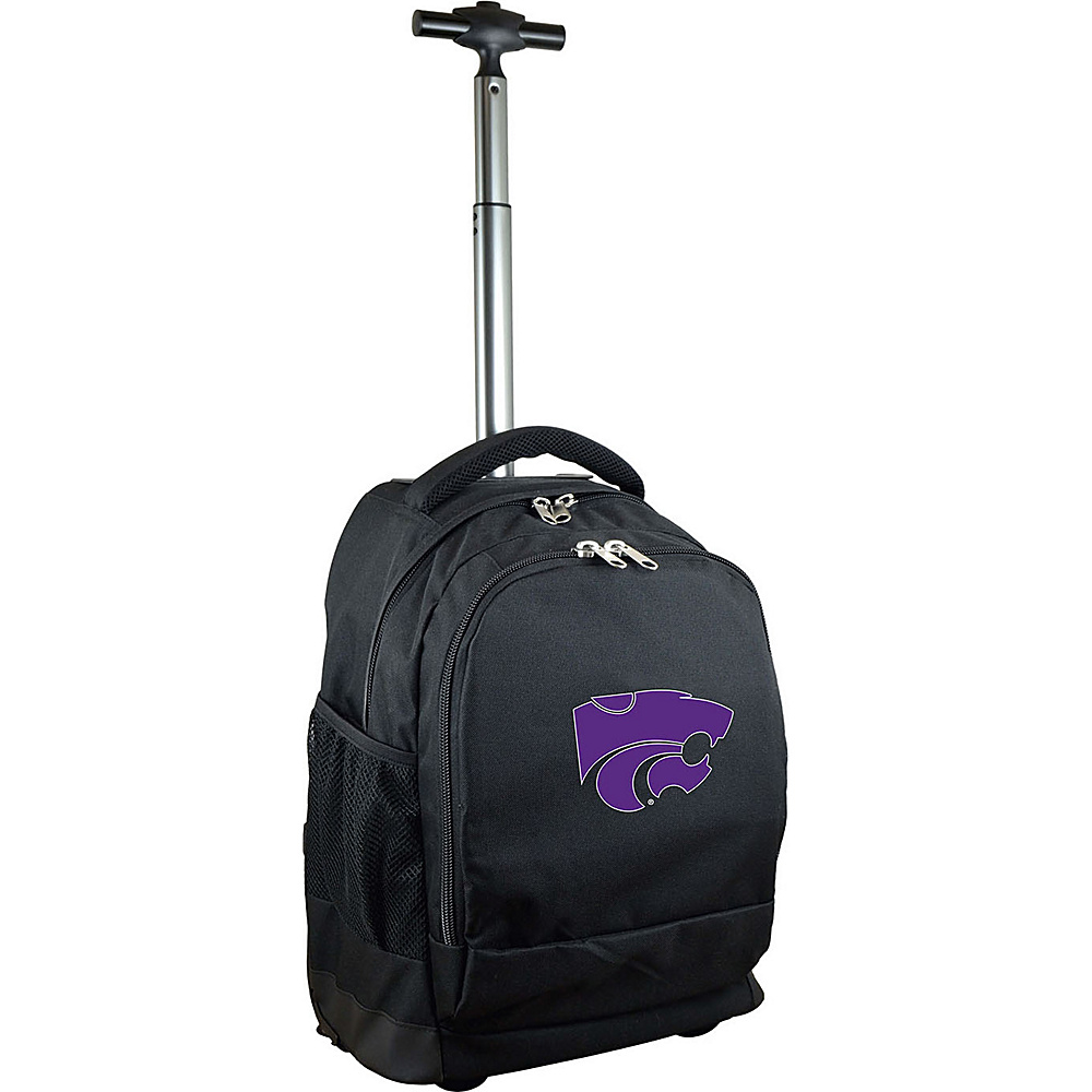 MOJO Denco College NCAA Premium Laptop Rolling Backpack Kansas State - MOJO Denco Rolling Backpacks - Backpacks, Rolling Backpacks