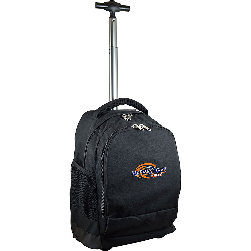 MOJO Denco College NCAA Premium Laptop Rolling Backpack Pepperdine - MOJO Denco Rolling Backpacks - Backpacks, Rolling Backpacks