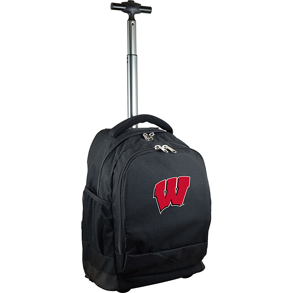 MOJO Denco College NCAA Premium Laptop Rolling Backpack Wisconsin - MOJO Denco Rolling Backpacks - Backpacks, Rolling Backpacks