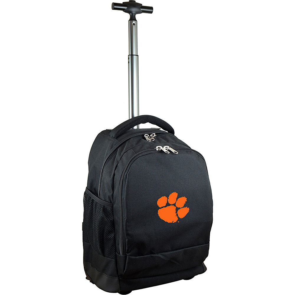 MOJO Denco College NCAA Premium Laptop Rolling Backpack Clemson - MOJO Denco Rolling Backpacks - Backpacks, Rolling Backpacks