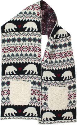 Bear Paw Kissing Bears Pocket Scarf Multi - Bear Paw Hats/Gloves/Scarves