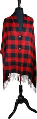 Woolrich Accessories Barn Red Buffalo Hood Wrap One Size  - Fire Brick Plaid - Woolrich Accessories Women's Apparel