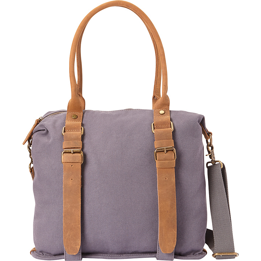 Vagabond Traveler Classic Canvas Shoulder Messenger Bag Blue Grey - Vagabond Traveler Fabric Handbags - Handbags, Fabric Handbags
