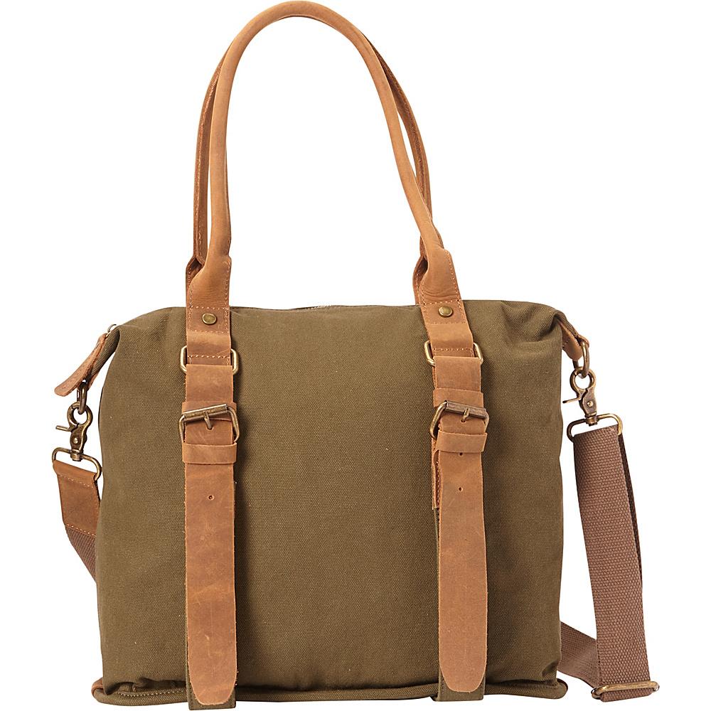 Vagabond Traveler Classic Canvas Shoulder Messenger Bag Green - Vagabond Traveler Fabric Handbags - Handbags, Fabric Handbags