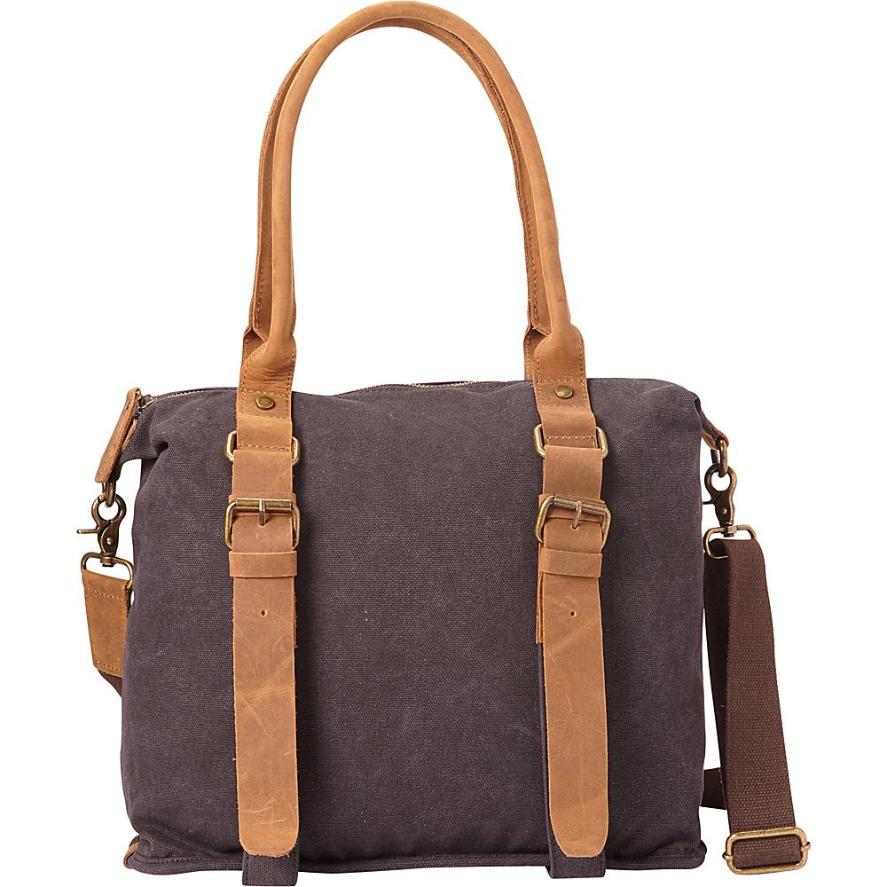 Vagabond Traveler Classic Canvas Shoulder Messenger Bag Grey - Vagabond Traveler Fabric Handbags - Handbags, Fabric Handbags