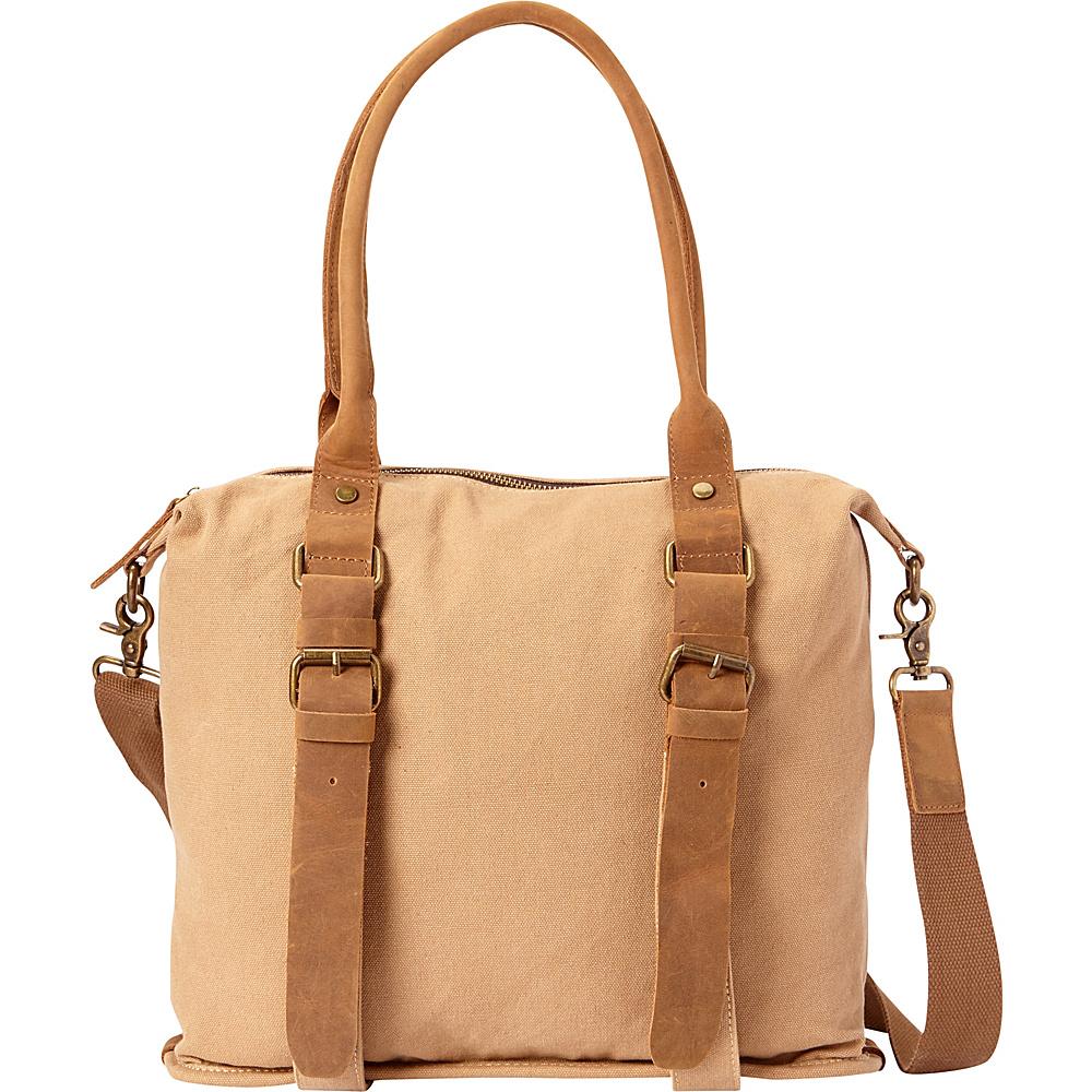 Vagabond Traveler Classic Canvas Shoulder Messenger Bag Khaki - Vagabond Traveler Fabric Handbags - Handbags, Fabric Handbags