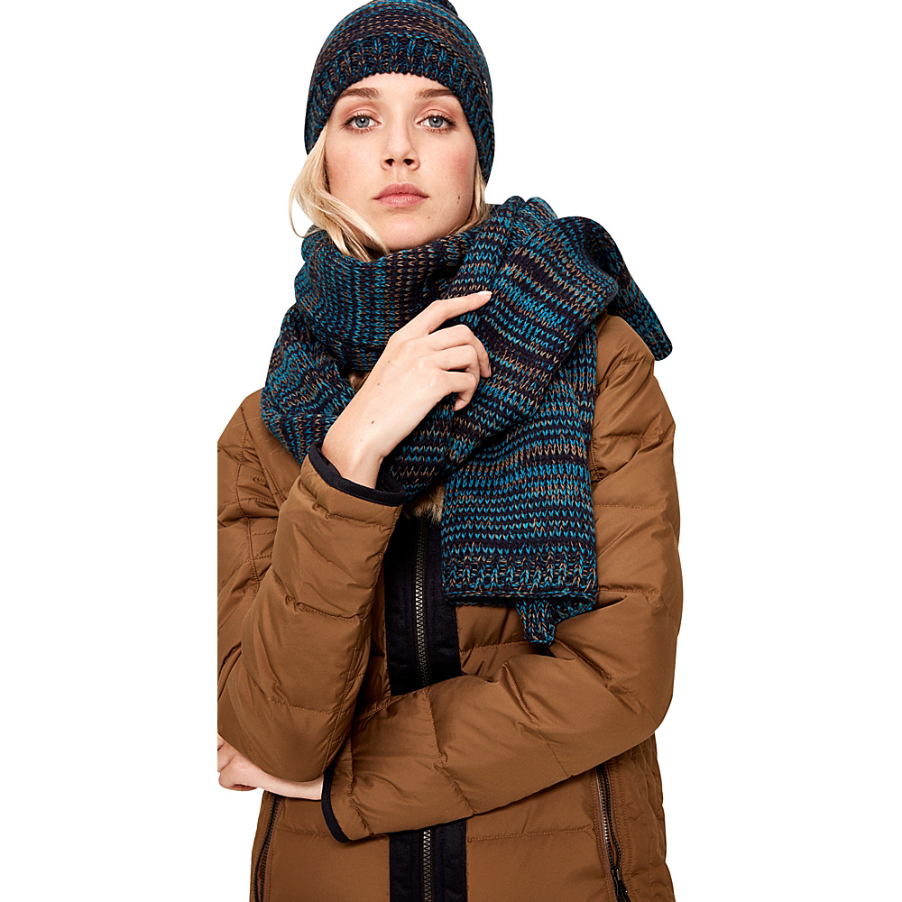 Lole Reverse Knit Scarf Blue Nights - Lole Hats/Gloves/Scarves - Fashion Accessories, Hats/Gloves/Scarves