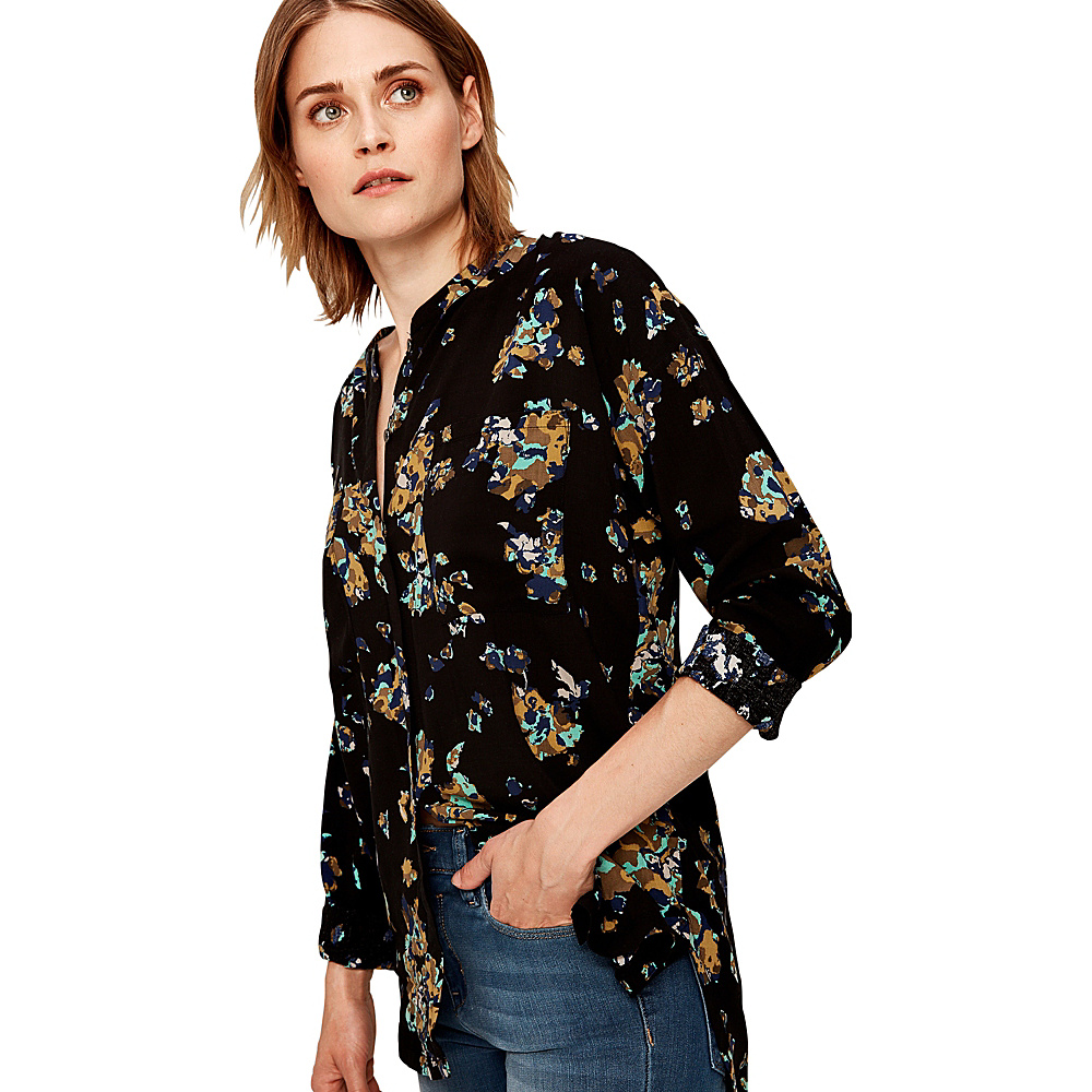 Lole Jessa Blouse XS - Black Broken Floral - Lole Womens Apparel - Apparel & Footwear, Women's Apparel