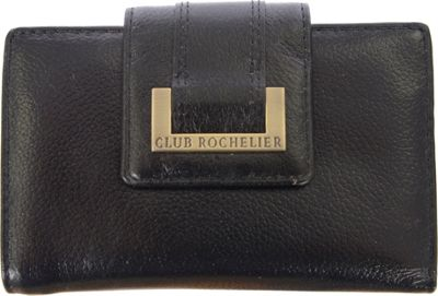 Club Rochelier Medium Wallet with Tab and Metal Frame Black - Club Rochelier Women's Wallets