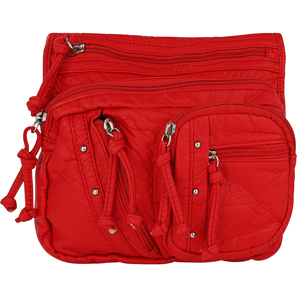 MKF Collection by Mia K. Farrow Travelocity Crossbody Red - MKF Collection by Mia K. Farrow Manmade Handbags - Handbags, Manmade Handbags