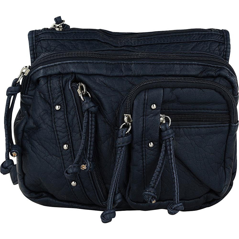 MKF Collection by Mia K. Farrow Travelocity Crossbody Navy - MKF Collection by Mia K. Farrow Manmade Handbags - Handbags, Manmade Handbags