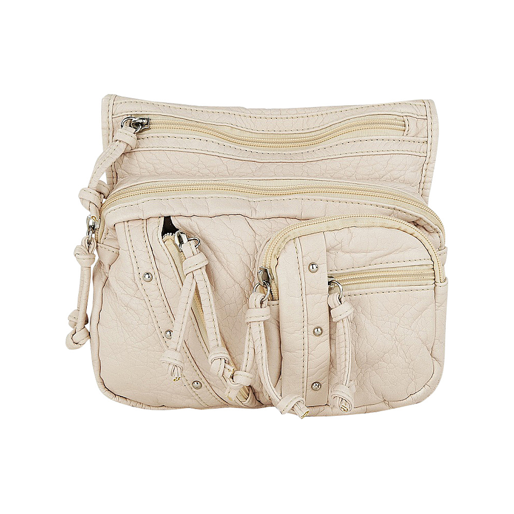 MKF Collection by Mia K. Farrow Travelocity Crossbody Beige - MKF Collection by Mia K. Farrow Manmade Handbags - Handbags, Manmade Handbags