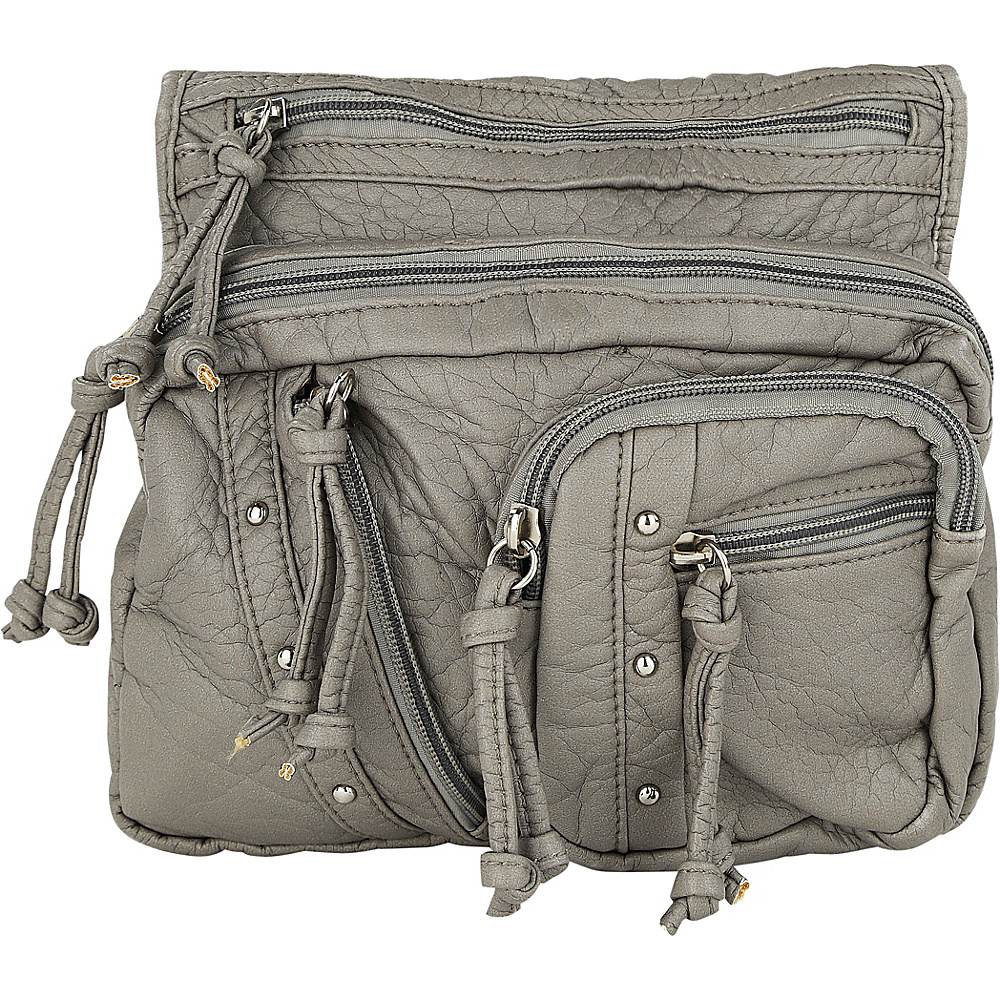 MKF Collection by Mia K. Farrow Travelocity Crossbody Grey - MKF Collection by Mia K. Farrow Manmade Handbags - Handbags, Manmade Handbags